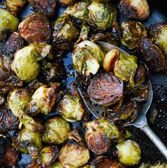 Balsamic Roasted Brussels Sprouts with Garlic - The Live-In Kitchen