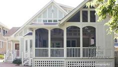 "Your screened porch design should become an integral extension of you home rather than a ""tacked-on"" look."