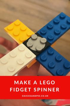 How to make a LEGO fidget spinner - our homemade fidget spinner is a super easy must try LEGO project for younger kids #LEGO #LEGOactivities #fidgetspinner #kidsactivities