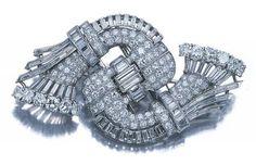Diamond Double Clip-Brooch | Doyle Auction House