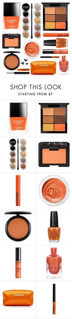 """""""Halloween Makeup"""" by courtneylovescats ❤ liked on Polyvore featuring beauty, Butter London, MAC Cosmetics, Giorgio Armani, NARS Cosmetics, NYX, 3ina, OPI and Melissa Odabash"""