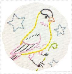 Sublime Stitching • Song Birds Embroidery Transfers