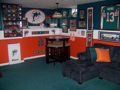 man cave - obviously, ours won't be Dolphins themed ;)