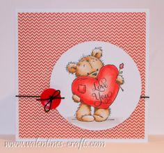 Lili of the valley / LOTV card   James Bear - Big Heart  www.valentines-crafts.com