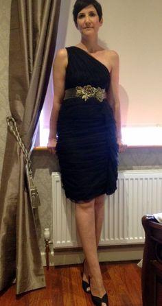 Rent Dresses, Formal Dresses, Monsoon Dress, Dress Rental, I Dress, Black Gold, Size 12, One Shoulder, Ads