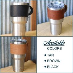 The Rocket City 30 oz Yeti Leather Wrap with Handle – Personalized