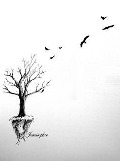 whimsical tree tattoo - Google Search