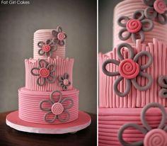 girl/teen birthday cake idea. Fat Girl Cakes! on FB butterflymad