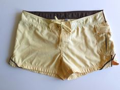 Vans Jr Women's Board Shorts Swim Beach 7 Yellow #Vans #BoardShorts