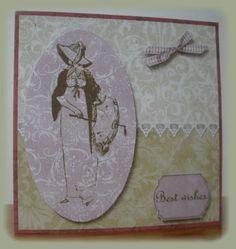 Tarjeta decoupage inspiraci�n Jane Austen