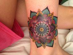 Mandala flower Tattoo - http://16tattoo.com/mandala-flower-tattoo/