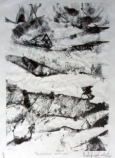 """Devastation Landscape"" Monotipia - off set s/ Paper 2010 ""Devastation Landscape"" Monotipia - off set s/ Paper 2010 ""Devastation"" Monoti... Textures Patterns, Zine, Printmaking, Fantasy, Mountains, Landscape, Abstract, Nature, Artwork"
