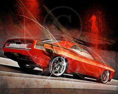 Fast Cars by Gilles Rathé, via Behance
