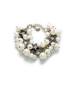 GOLD CHAIN BRACELET WITH PEARLS