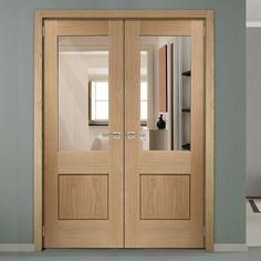 Double Doors - Internal & External Double Doors - Direct Doors UK - August 02 2019 at External Double Doors, Internal Doors, Oak Doors, Wooden Doors, Door Design, House Design, Porch Doors, Double French Doors, Flush Doors