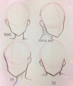 Drawing faces anime anime drawing tutorials, pencil drawings for beginners, drawing ideas, beginner Anime Drawings Sketches, Cool Art Drawings, Pencil Art Drawings, Drawing Reference Poses, Drawing Tips, Design Reference, Anatomy Reference, Drawing Poses, Sketch Drawing