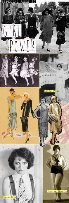 A volta da estética e do comportamento feminino dos anos 20.