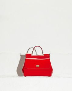 MID-SIZED PATENT-LEATHER SICILY BAG - Medium leather bags - Dolce Gabbana -  Summer. Dolce Gabbana OnlineExclusive ... 6c204180f84a2