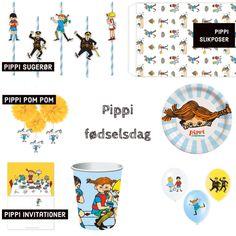 Skal du holde en Pippi børnefødselsdag? Find ALT hvad du skal bruge til et sej Pippi fødselsdag her