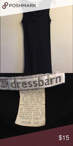 Dress Barn classic black dress Sleeveless pull-on sheath with tulip hem and slight  cowl neckline. Very classy evening dress! Dress Barn Dresses Midi