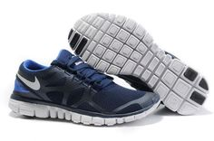 Discount Mens Nike Free 3.0 V3 Black Blue Grey Running Shoes
