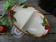 Vintage Franciscan Apple Divided Dish by allthatsvintage56 on Etsy