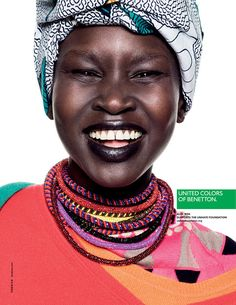 United Colors of Benetton Spring 2013  Alek Wek photographed by Giulio Rustichelli.