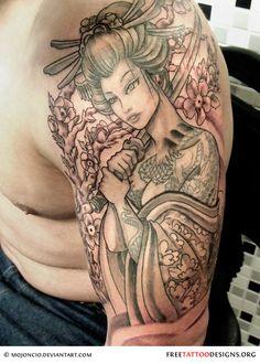 black-geisha-tattoo.jpg (500×700)