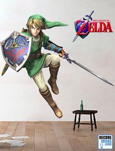 Adesivo Decorativo de Parede Games - Legend of Zelda - Link Classico dos classicos, The Legenda of Zelda, criado por Shigeru Miyamoto e Takashi Tezuka se passam no reino de Hyrule, num ambiente de fantasia. A jogabilidade mistura aventura e ação com elementos de RPG. A série é muito apreciada por suas tramas complexas, quebra-cabeças, jogabilidade e pela superprodução. E agora você não vai deixar essa oportunidade de ter esse super adesivo gigante de Link em alta definição.