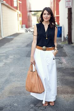 {Top: Old Navy | Skirt: Similar | Sandals: Target | Bag: Similar (Gap circa 2009)} by kendi lea