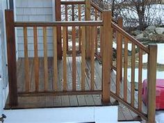 Simple exterior railings for deck