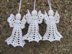 Christmas angel crochet angel christmas tree by InKasTrifles