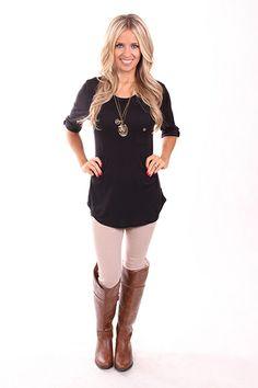 Lime Lush Boutique - Black Knit Top , $32.99 (http://www.limelush.com/black-knit-top/)