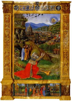 King David Kneeling Before God  Bible of Matthias Corvinus c.1490