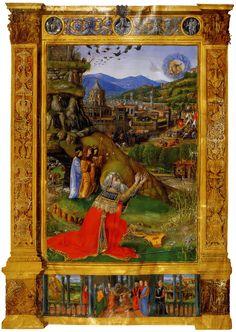 King David Kneeling Before God  Bible of Matthias Corvinus c.1490