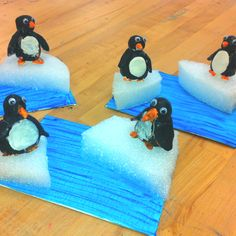 Clay Penguins/Elementary Art/Summer Enrichment (art teacher: v. giannetto)