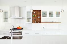 Asquith Architecture is a Toronto firm specializing in thoughtful, intelligent architecture. We undertake large-scale renovations and modern residential builds in the Greater Toronto Area. Open Cabinets, Kitchen Cabinetry, White Cabinets, Modern Architecture, Table, Kitchens, House, Furniture, Park