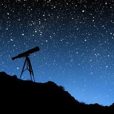 Lunette et ciel étoilé, apprendre le nom des étoiles et savoir les reconnaître
