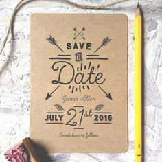 native eco save the date by pip designs wedding stationery | notonthehighstreet.com