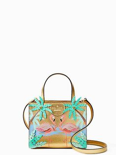 by the pool flamingo scene small sam by kate spade new york