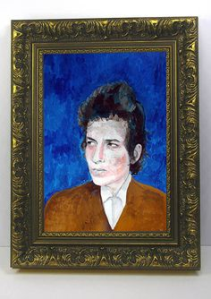 Bob Dylan Portrait Painting Illustration by by TheArtofAdamShaw,