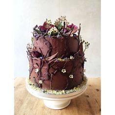 ... grimm's fairytale cake in chocolate & flowers.