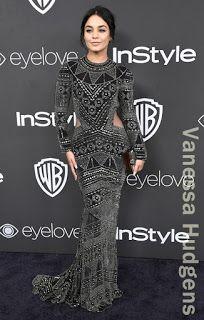 ヴァネッサ・ハジェンズ(Vanessa Hudgens)は、ナイームカーン(Naeem Khan)のドレス、エムクオ(Emm Kuo)のクラッチを着用。