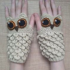 DIY Crochet Owl in Crocodile Stitch with Pattern More