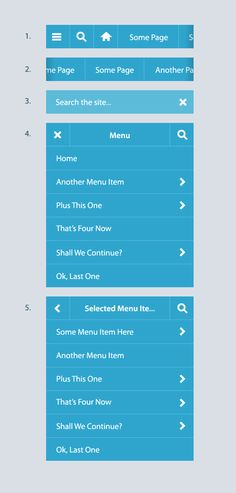 Mobile-menu-workflow Ui Ux Design, Flat Design, Ui Components, Menu Items, User Experience, User Interface, The Selection, Inspiration, Biblical Inspiration