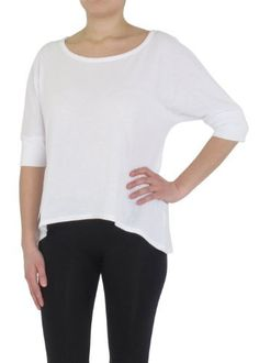 Capelli New York Ladies Solid Jersey 3/4 Sleeve Top With Train Fuchsia Small Capelli New York. $14.99