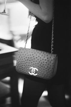 Ostrich leather Chanel
