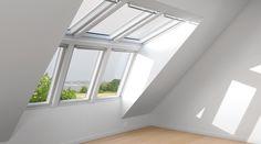 Loft Conversion Bedroom, Attic Conversion, Loft Conversions, Attic Bedrooms, Planer, Sweet Home, New Homes, Windows, Interior Design