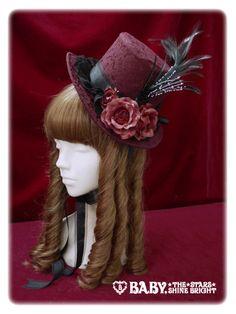 Crown mini hat - bordeaux | #AliceAndThePirates #AatP