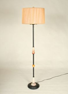 Vintage Floor Lamp With Jadeite Accents, c. 1930. #Vintage #Lighting www.myrlg.com
